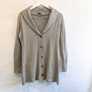 Eileen Fisher cashmere wool cardigan M EUC
